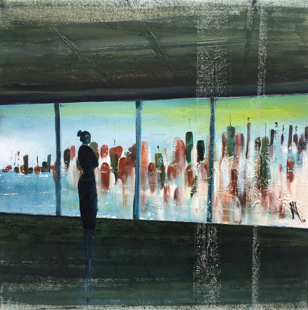 The view  71 x 71 cms.