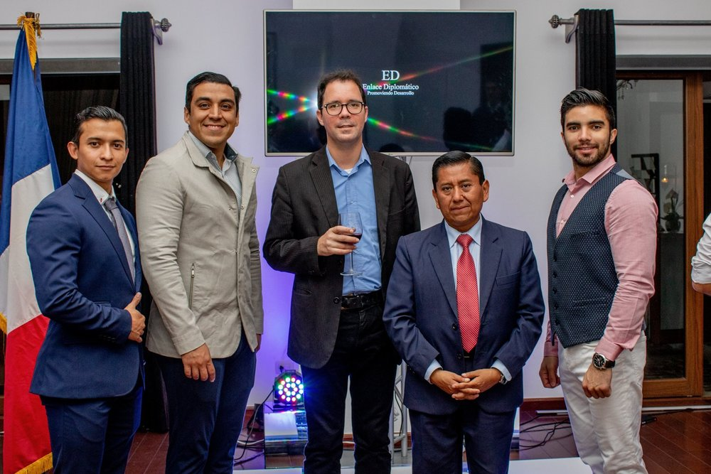 Dr. Sébastien Perrot-Minnot Cónsul honorario de Guatemala en Fort-de-France, Martinica, Jorge Rodriguez de Enlace Diplomático, Alex Ordoñez, Josías Salguero, Luis Mendez