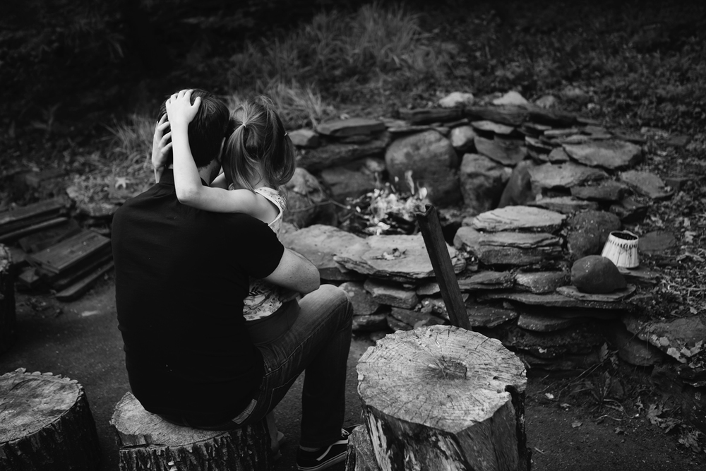 Daddy's Girl. Through and through. I hated to even step in and take this photo, as the two of your have some real magical moments, just the two of you, around that fire.    Photo by Olivia Gatti     Facebook  ::  Website
