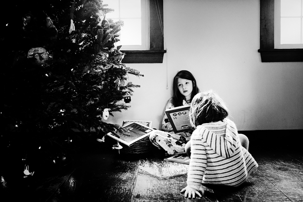 A sick day spent under the Christmas tree. How sick? Not much. How needed? Very. Photo by Olivia Gatti Facebook :: Website