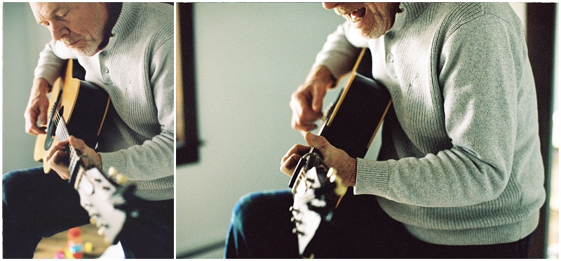 Old guitar new (EOS 3 :: Portra 400 @ 800)   9/366