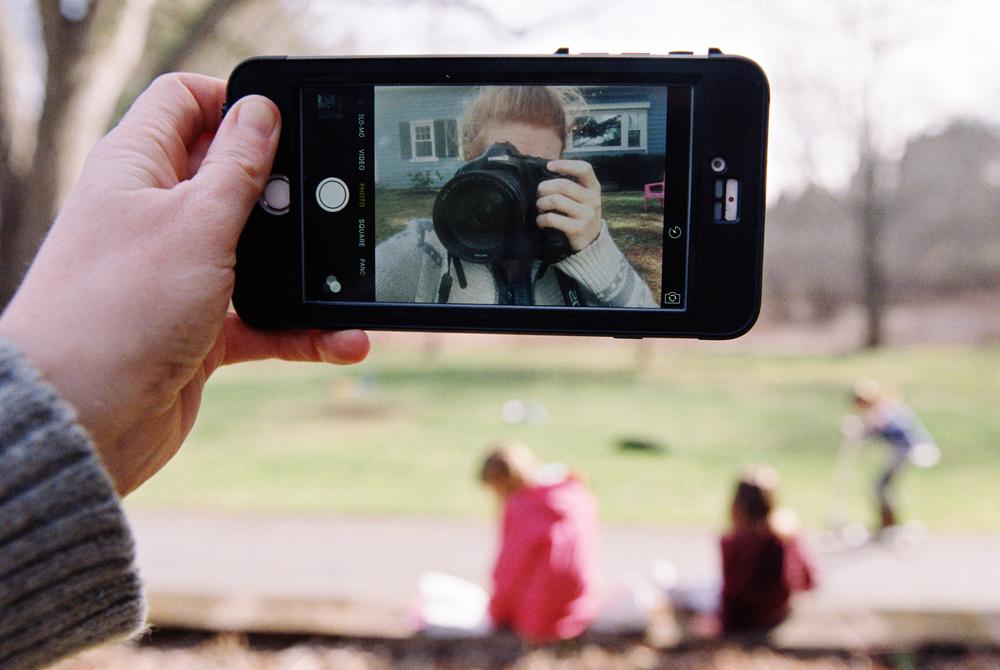 Selfie (Canon 1v :: Superia 800)   76/366