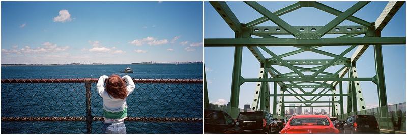 Tobin Bridge & Castle Island (Yashica T3 :: Ektar)   161/365