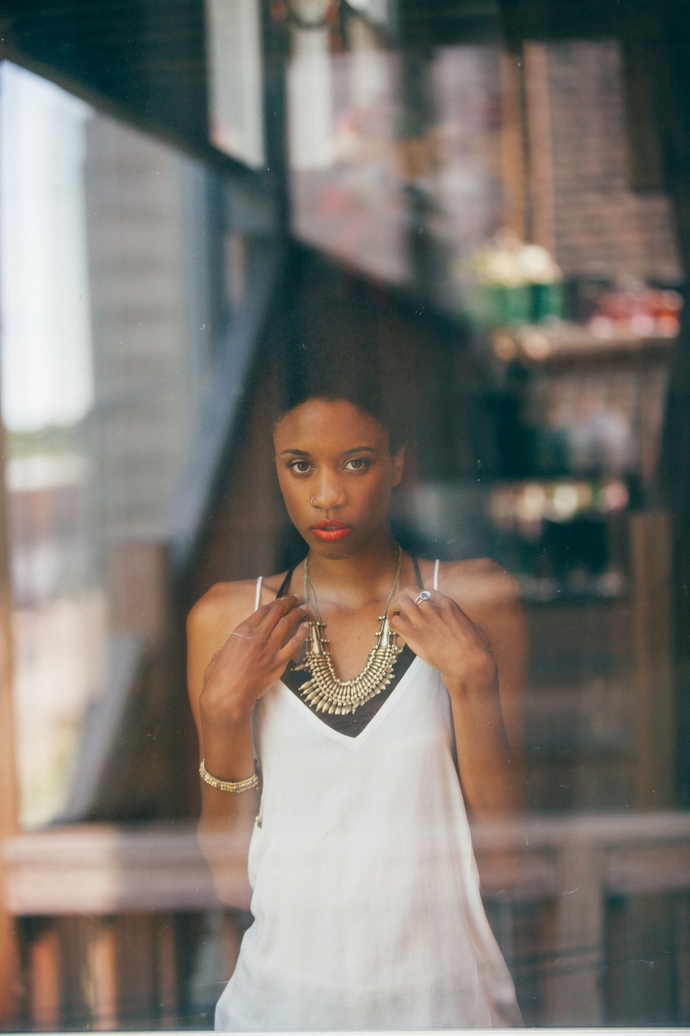 Window Reflection Urban Outfitters Lifestyle Photography with The Finches