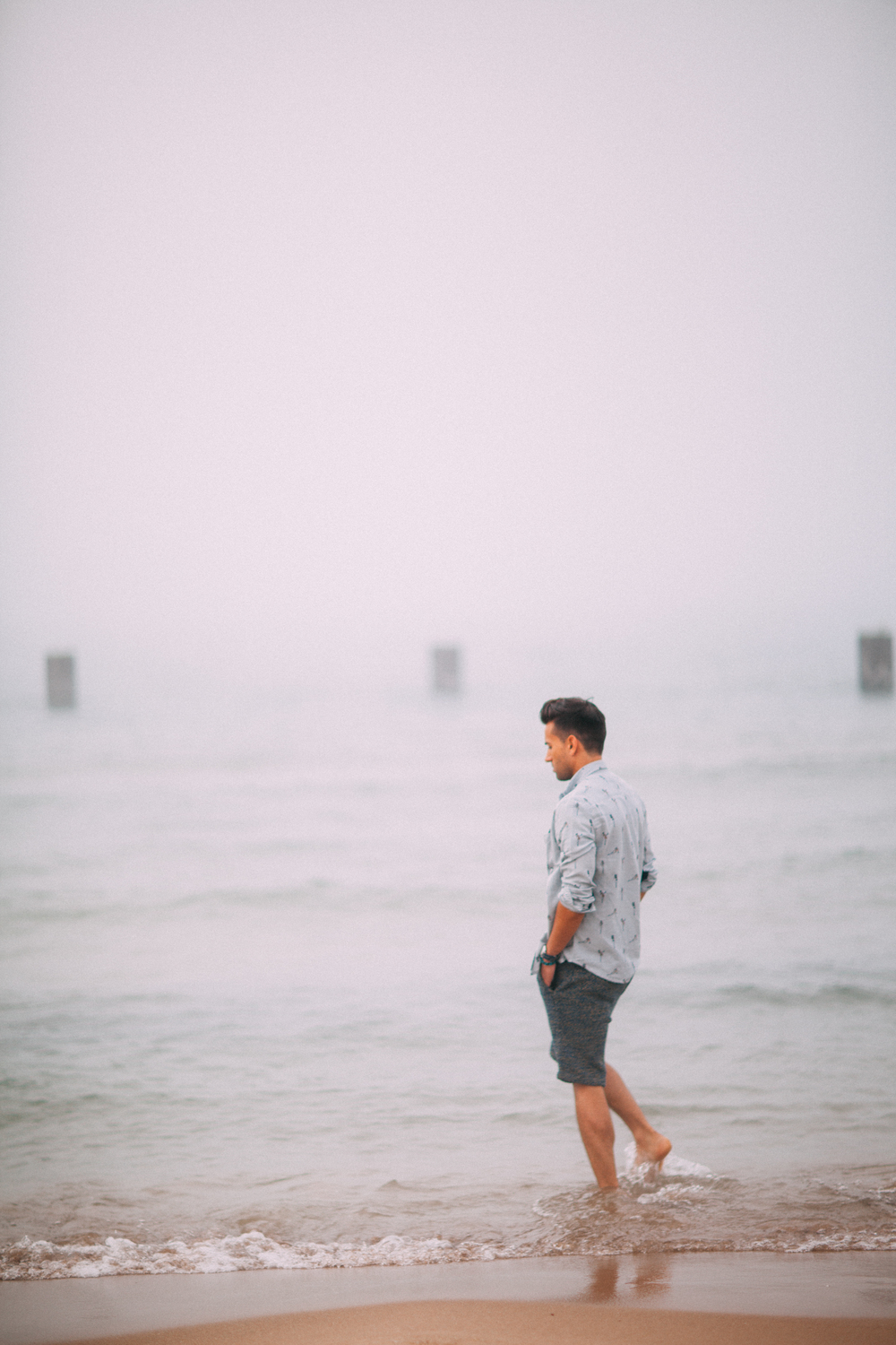 Lake Michigan Fog Lifestyle Photography by The Finches