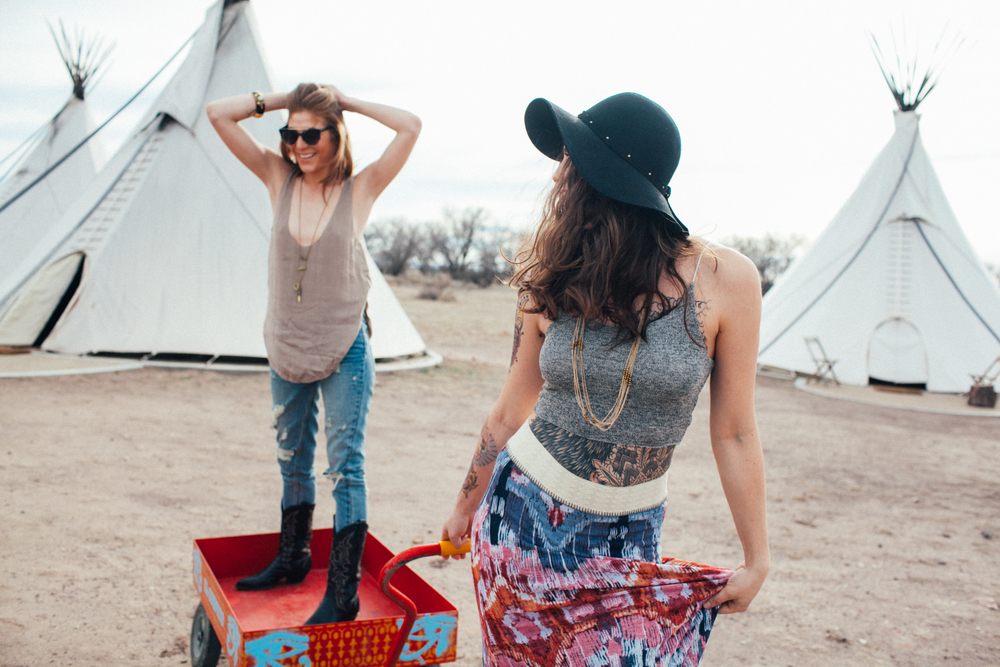 Teepees and Wagons El Cosmico Marfa Texas by The Finches