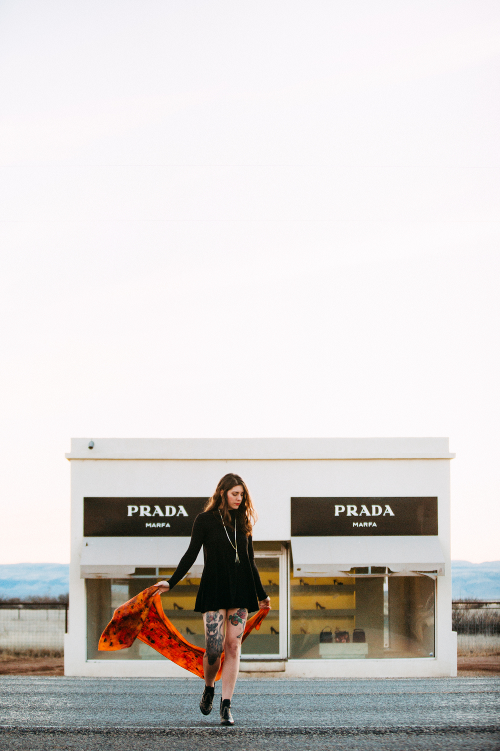 Sunset Prada Marfa Lifestyle Fashion Photography by The Finches