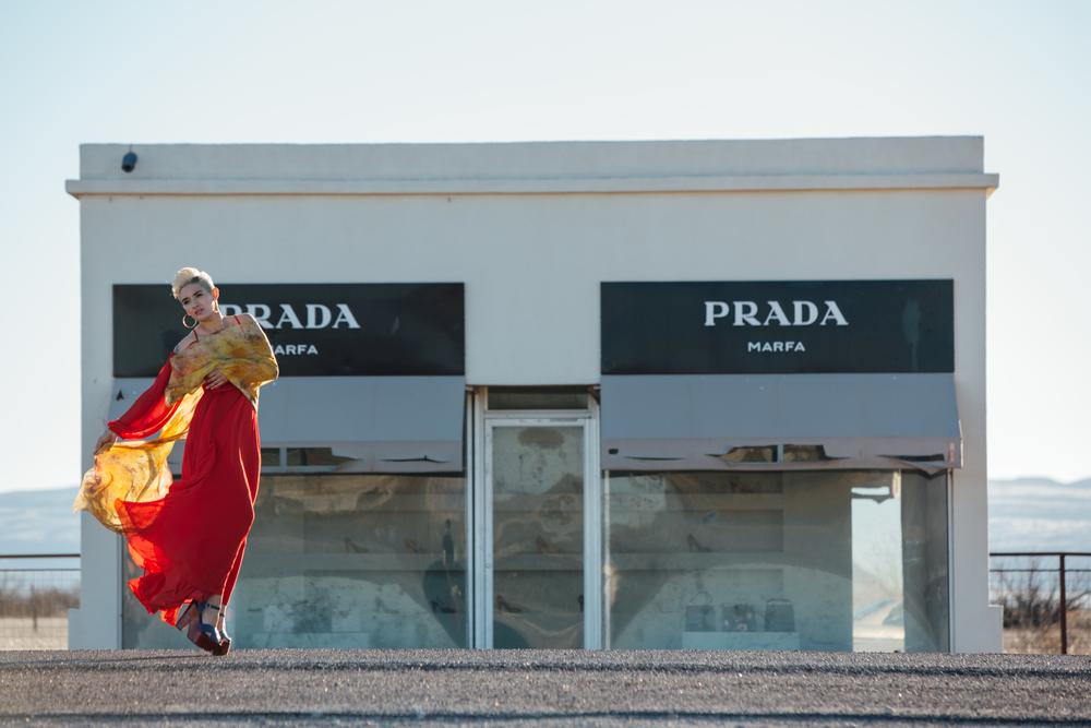 Prada Marfa Fashion Lifestyle Photoshoot with The Finches