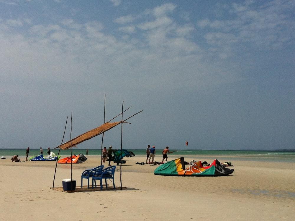 funzi island kite the sand bar