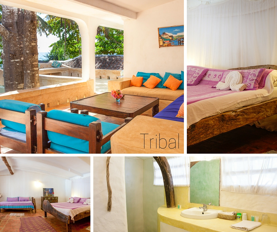 Tribal has Double bed, 1 single bed - VIEW IMAGE - approx.$64 per PERSON / NIGHT B&B
