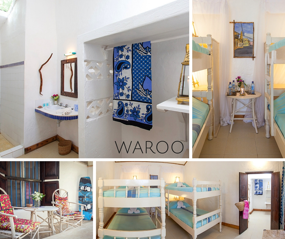 waroo has 4 single bunk beds - view images - approx. $45* per person / night B&B