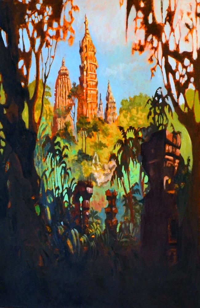 Ekphrasis , oil on canvas, 36 x 21 in