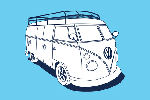 1963 VOLKSWAGEN BUS PANE AKA THE BUS Cameo Apperance
