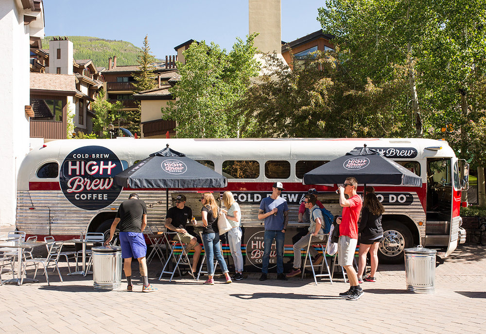 HIGH BREW SAMPLES ITS COLD BREW ANALOG-STYLE ON A VINTAGE COACH BUS - eventmarketer