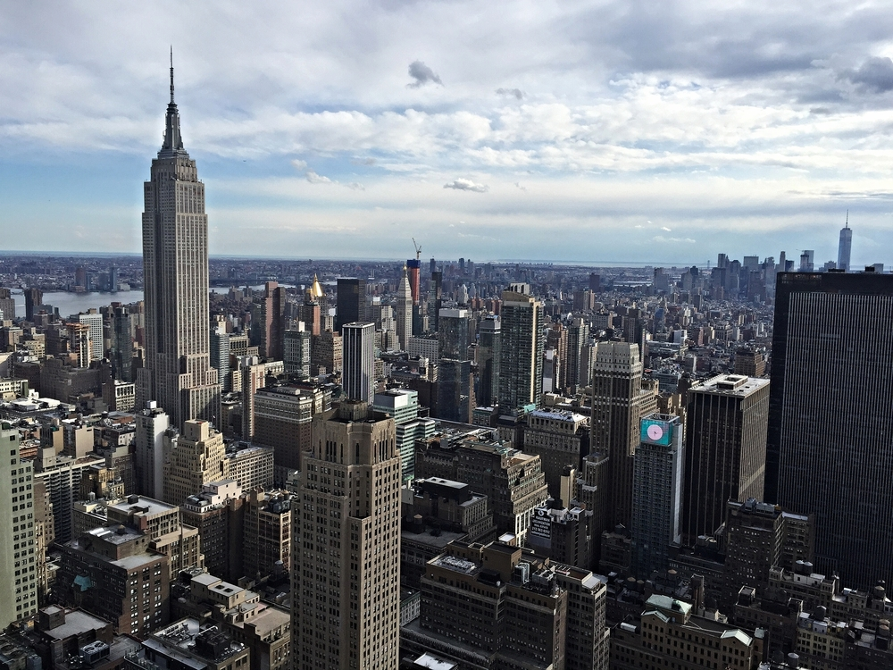 View of the Empire State Building.