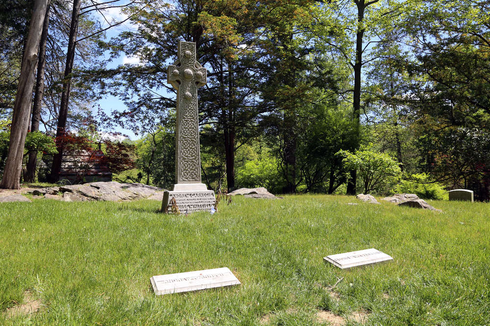 Tomb of  Andrew Carnegie  (1835–1919), Scottish-American industrialist, steel magnate, and philanthropist. Also probably the wealthiest man in history.