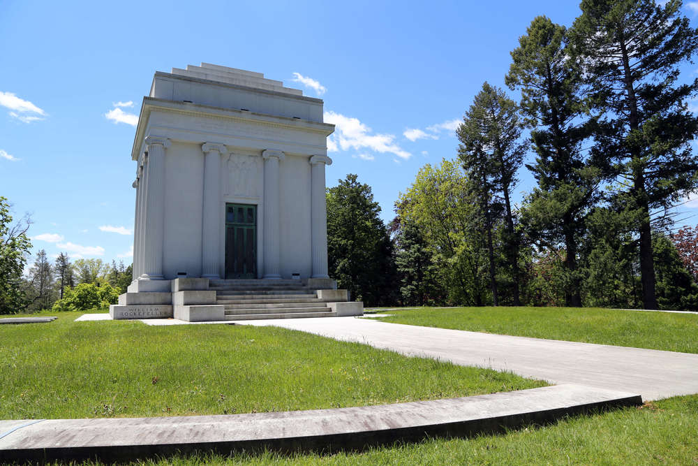 Tomb of  William Rockefeller  (1841–1922), with his brother John D. Rockefeller, a founder of the Standard Oil Company.