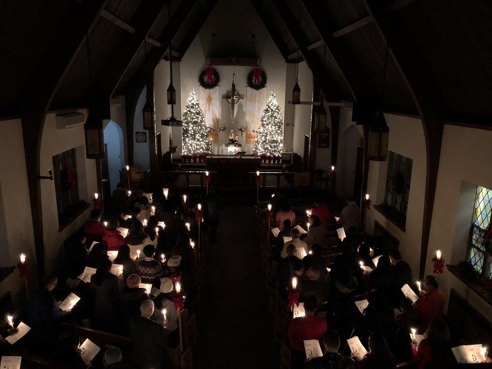 6:30pm Christmas Eve service at Our Saviour Lutheran Jamaica.