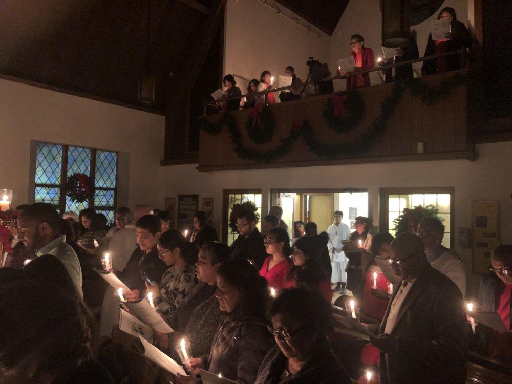 8:00pm Christmas Eve service at Our Saviour Lutheran Jamaica.