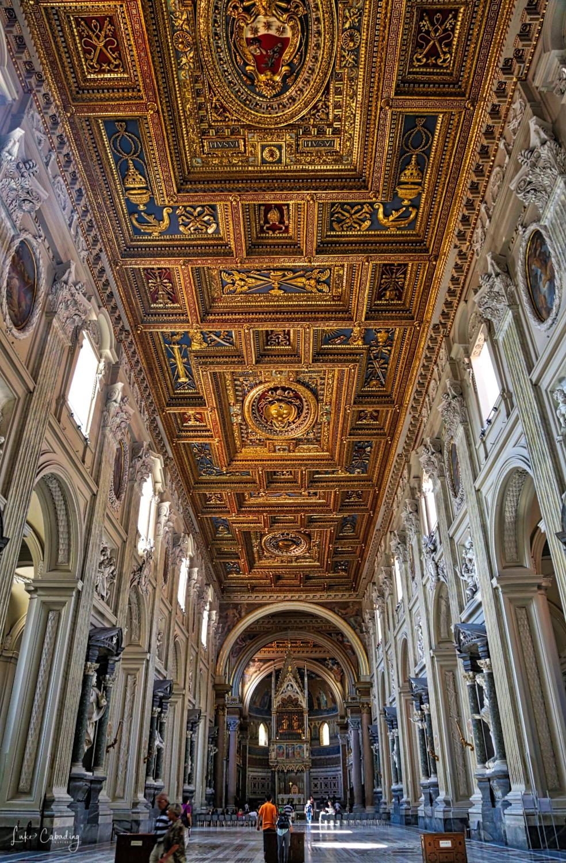 Inside Basilica di San Giovanni in Laterano (Rome).