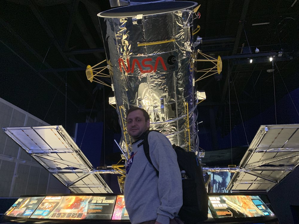A copy of the Hubble space telescope.