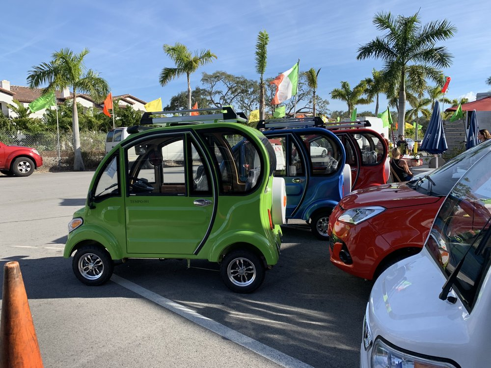 Electric cars for rent.