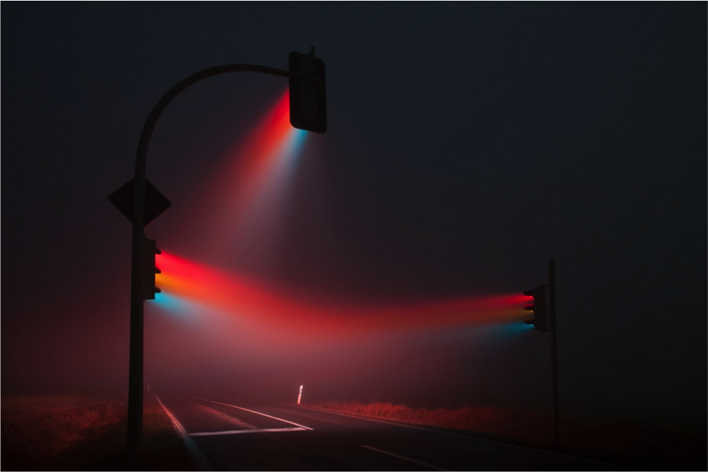 Stoplights in Fog