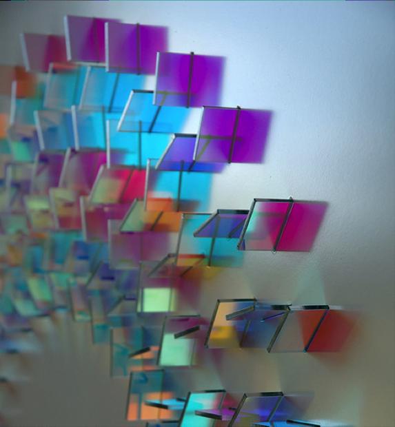 Geometric Dichrioc Glass Installation