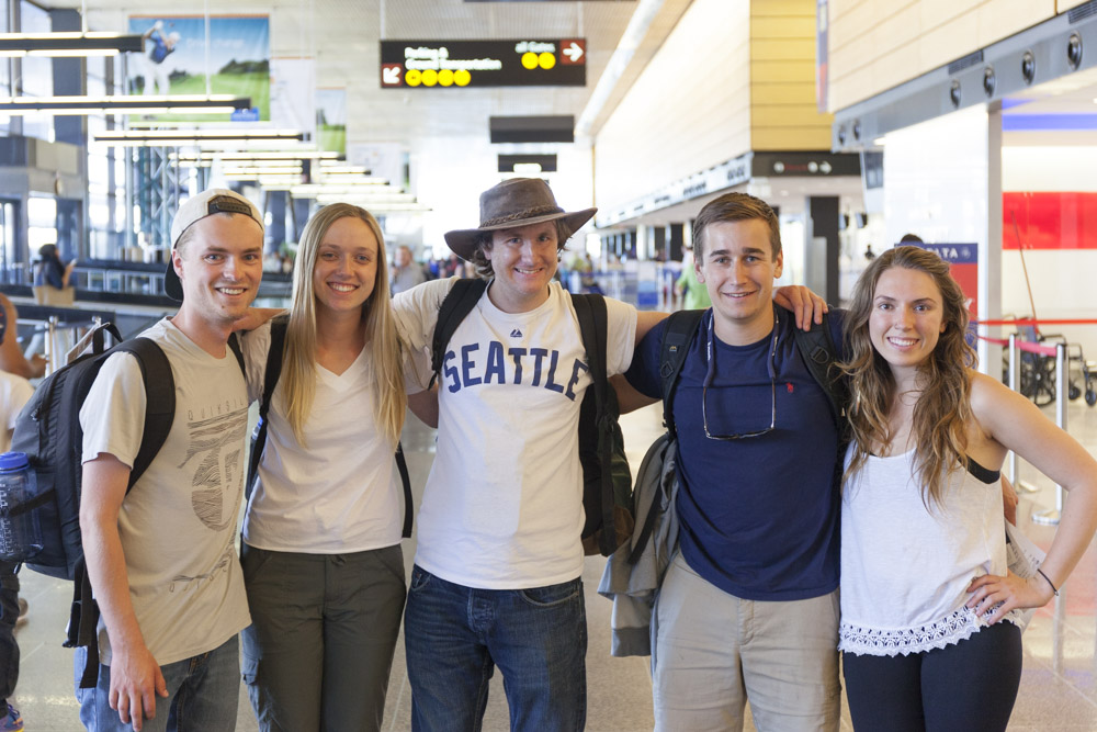My amazing team getting ready to depart form Sea-Tac airport in Seattle, Washington! I am on the left, followed by Marjorie Thompson, Dana Fay, Shane Jensen, and Kylie Milano.