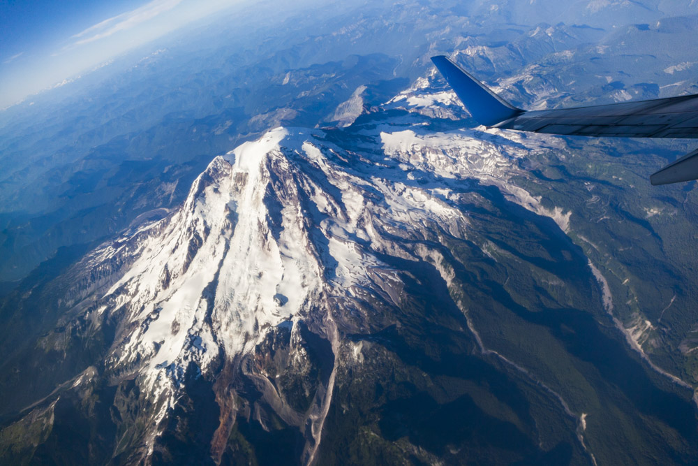 Mt. Rainier at 40,000 feet!