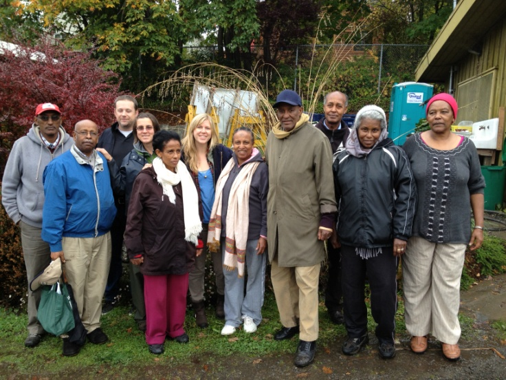 East african seniors at the rainier beach urban farm and wetlands