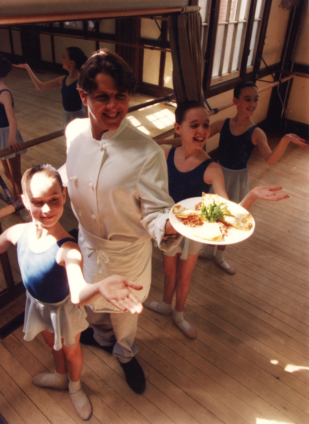 In 1993, then Chef Chris Zielinski demonstrates his culinary creations for NBS students. Photographed by Ian MacDonald for the Toronto Sun.