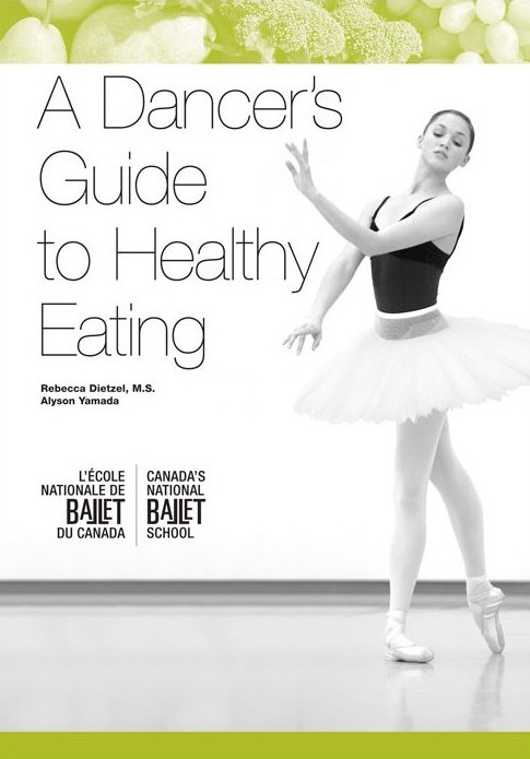 Published in 2007,  A Dancer's Guide to Healthy Eating  was written by Rebecca Dietzel, NBS' Nutritionist, and Alyson Yamada, an NBS alumna.
