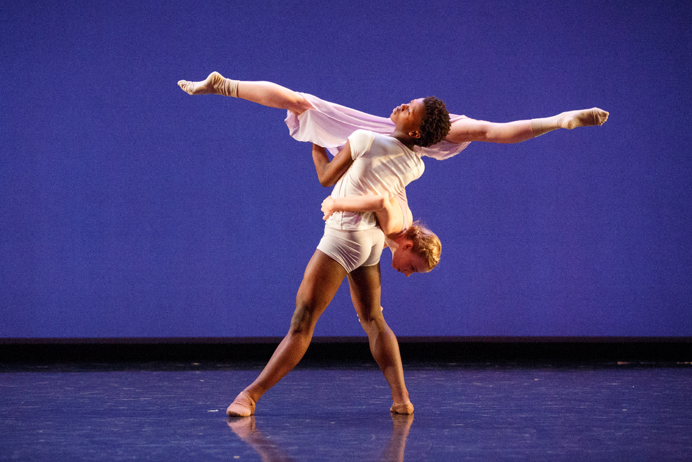 A pas de deux in the 2014 Stephen Godfrey Choreographic Workshop performance.