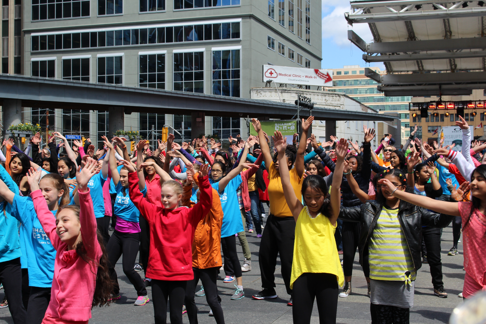 In 2014, hundreds of people came out to celebrate dance at Toronto's Yonge-Dundas Square.