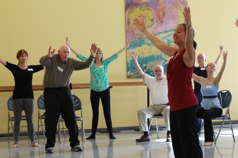 Participants enjoying the physical and emotional benefits of dance.