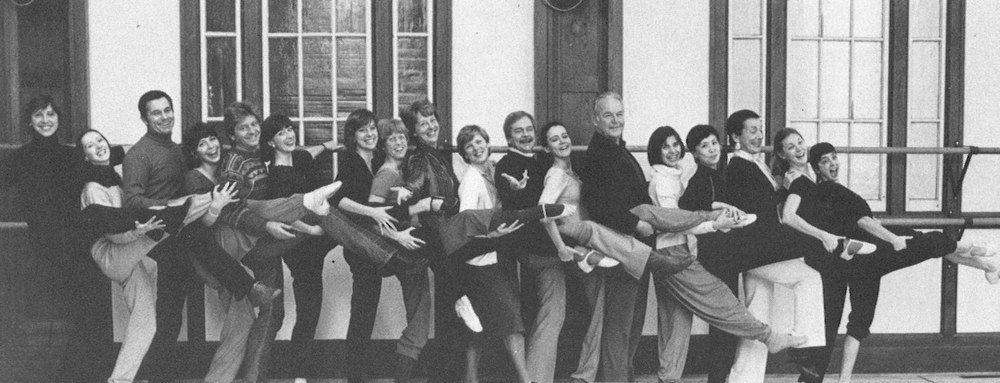 Members of NBS's Artistic Staff pose for the annual yearbook in 1985.