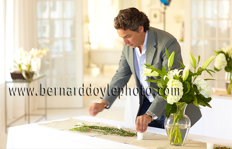 "Thom Filicia- attentive to every detail of this event for Amana, introducing the new ""Quick Tap"" fridges he helped design    ©2011   www.bernarddoylephoto.com"