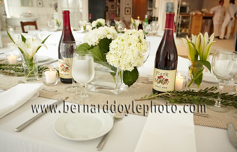 "Beautifully arranged tables at Amana ""Quick Tap"" Refrigerator launch     ©2011   www.bernarddoylephoto.com"