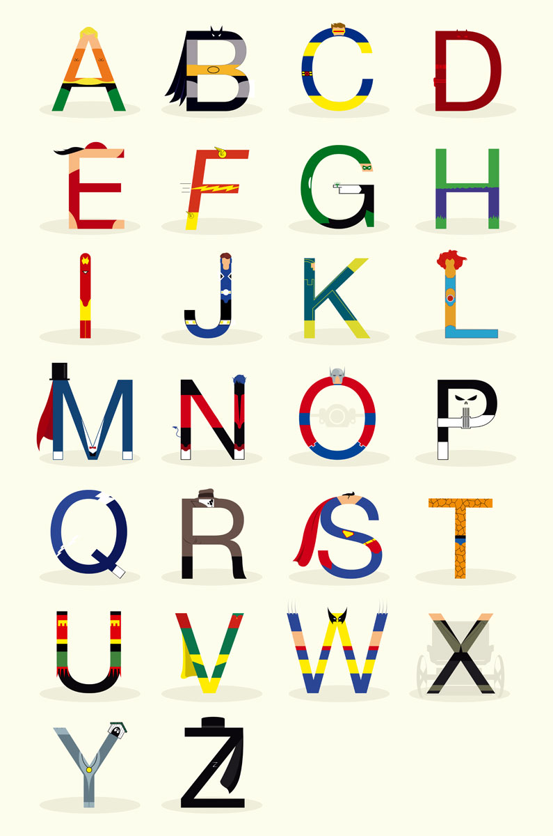 Super Hero Font Poster by Gonzales