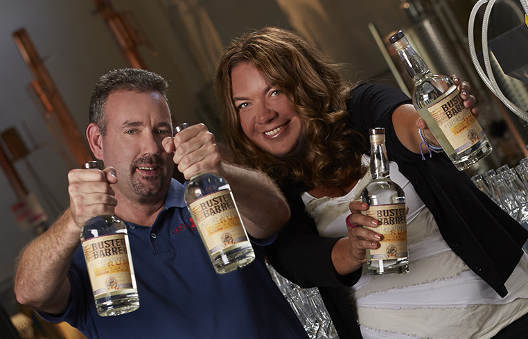 CEO and CFO of Jersey Artisan Distilling    © Bernard Doyle Photography 2013