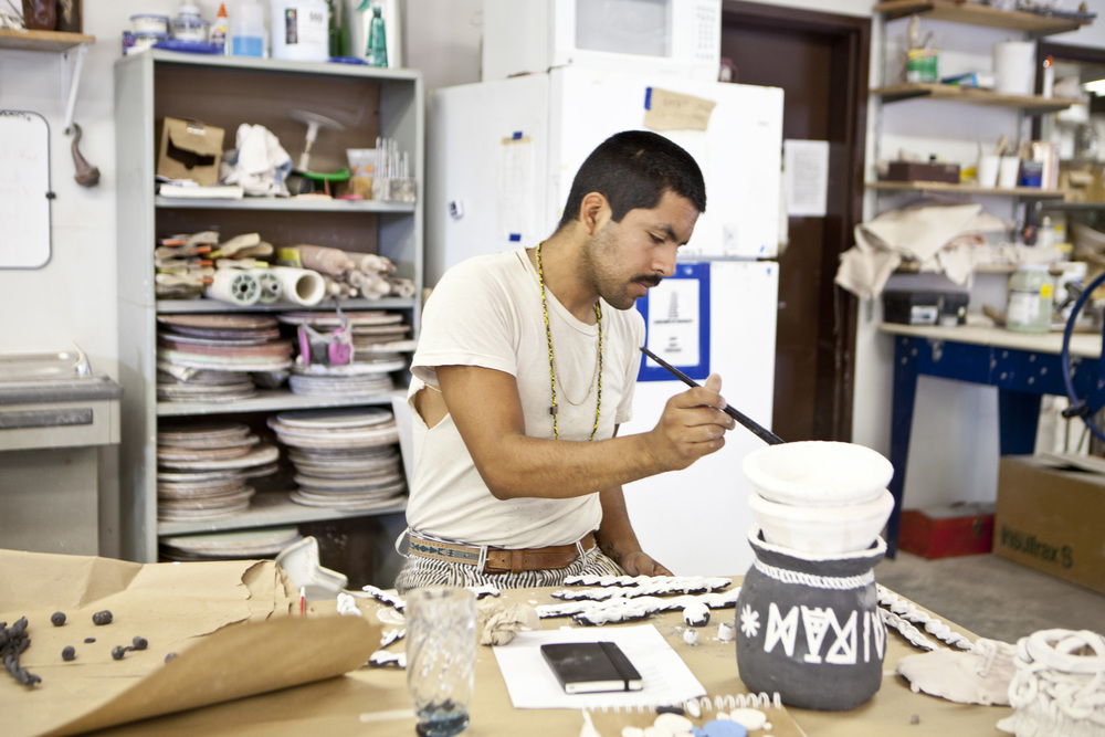 Ector Garcia in the Ceramics Studio.jpg