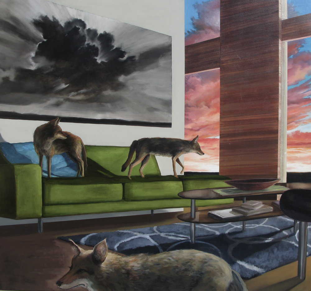 "INCIDENTAL SUNSET | oil on canvas 66""w x60""h, 2009"