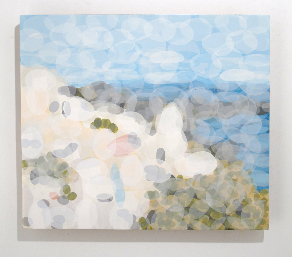 Mat Daly   Fira 1,  2013 silk screened monoprint on panel