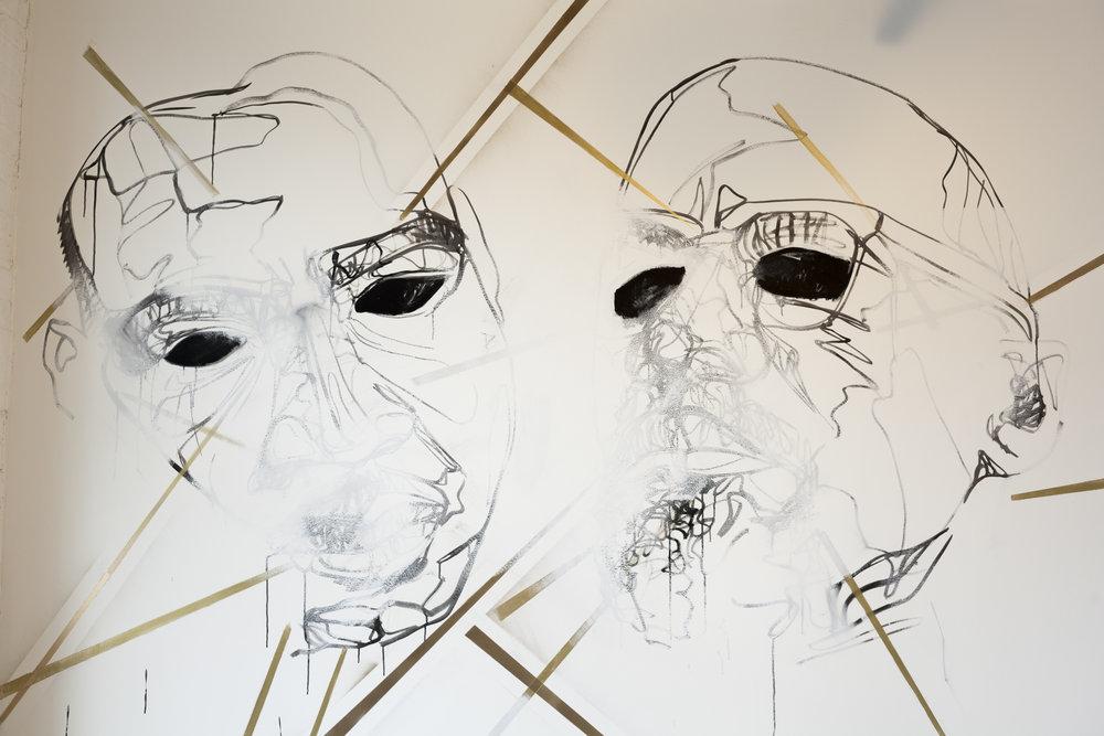 Carris Adams   MXMLK II,  2017 ink and acrylic enamel on wall