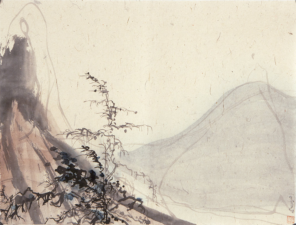 Qigu Jiang Landscape #A28, 2015. ink on rice paper