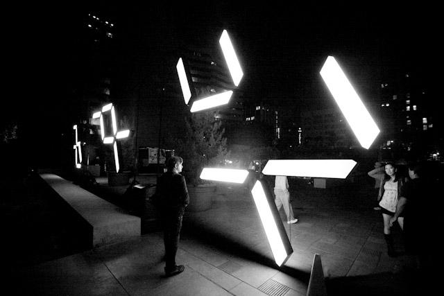 Chris Buchakjian   Clock No. 2 , 2012 fluorescent light boxes