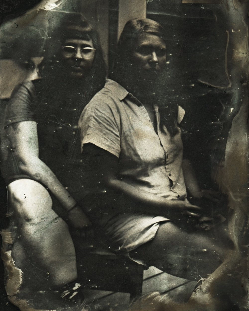 Jaclyn Silverman   Abby and Grace,  2017 ambrotype