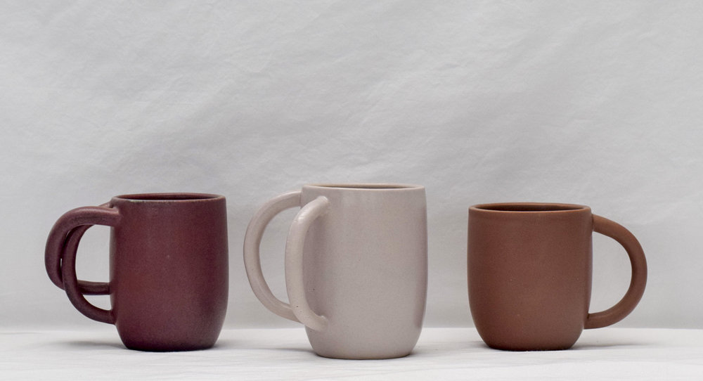 Ceramic Mugs by Ox-Bow artist Noah Singer
