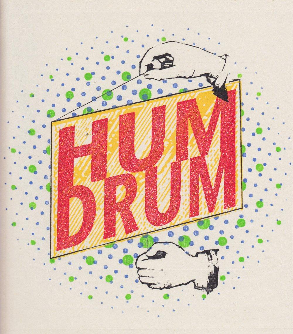 "Danny Miller   humdrum   woodcut, 10.5""w x 11.5""h 2016"